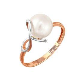 Кольцо из красного золота 585° пробы с жемчугом